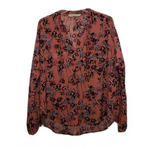 Abercrombie & Fitch Pink Floral Long Sleeve Blous